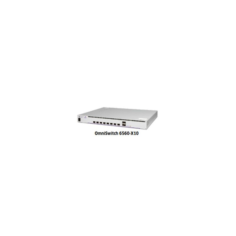 OS6560-X10 10GigE fixed chassis 8 SFP+ 10GigE, 2 QSFP+ (20G) sta