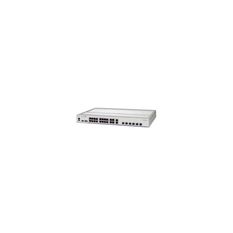 Hardened GigE fan-less 1RU switch. 22x10/100/1000Base-T PoE+ por