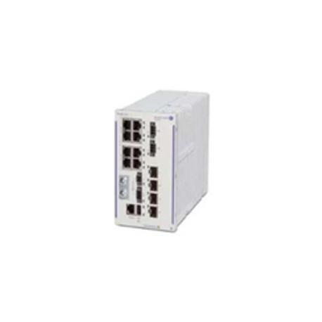 ALCATEL LUCENT OS6465-P12-XX Hardened GigE fan-less switch. 8x10/100/1000 Base-T RJ-45 PoE+
