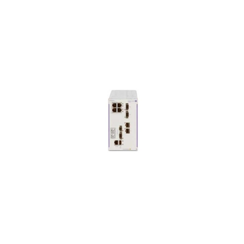 Hardened GigE fan-less switch. 4x10/100/1000 RJ-45 PoE+ (2x60W P