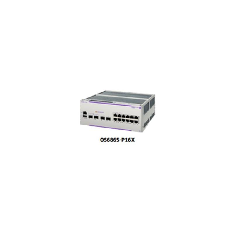 OS6865-P16X Hardened Gigabit Ethernet L3 chassis 12 RJ-45 10/10