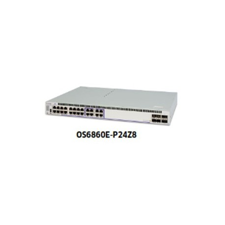 ALCATEL LUCENT OS6860E-P24Z8 Multi-Gigabit L3 chassis with 16 PoE+ 10/100/1000